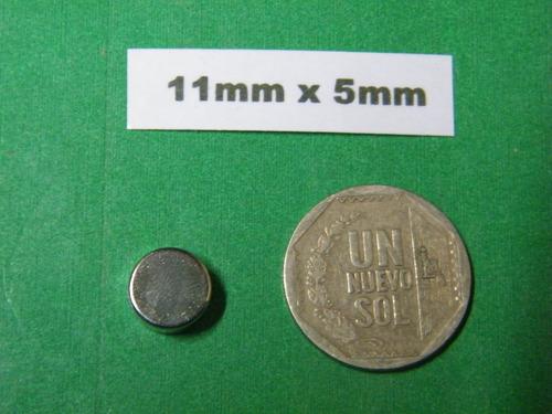 imanes de neodimio 11mm x 5mm - 1 dolar unidad
