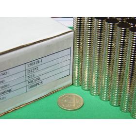 Imanes De Neodimio 12mm X 2mm - 13 Soles X Pack 10 Unidades