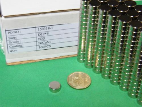 imanes de neodimio 12mm x 5mm - 11 dolar x pack 10 unidades