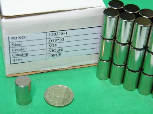 imanes de neodimio 13mm x 22mm - 5.5 dolar unidad