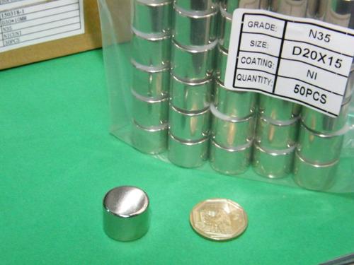 imanes de neodimio 20mm x 15mm - 10 dolar unidad
