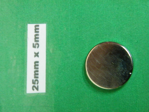 imanes de neodimio 25mm x 5mm - 5 dolar unidad