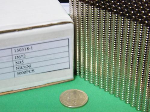 imanes de neodimio 6mm x 2mm - 7 soles x pack 10 unidades