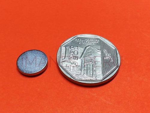 imanes de neodimio discos 12*2 mm pack de 10 unidades