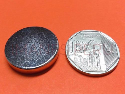 imanes de neodimio discos 25*5 mm pack de 2 unidades