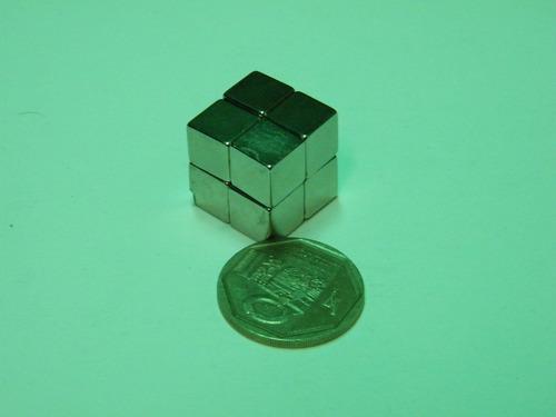 imanes de neodimio l10mm x 10mm x 10mm - 2 dolar unidad