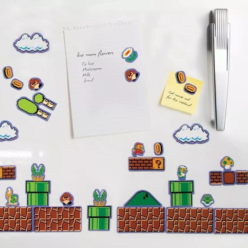 imanes de super mario bros magnets