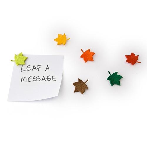 imanes en forma de hojas decorativos nuevos 6 piezas nuevos