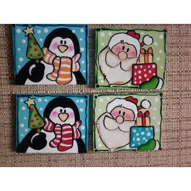 Imanes Mdf Artesanias Navidad 19 Unidades