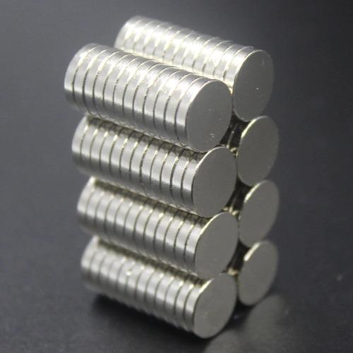 imanes neodimio lote 50 unidades de 10 x 2mm grado50