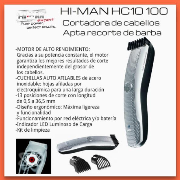 Imetec Hi-man Hc10 100 Cortadora De Pelo Acero Inalambrica -   799 ... 5d3fe1dc254a