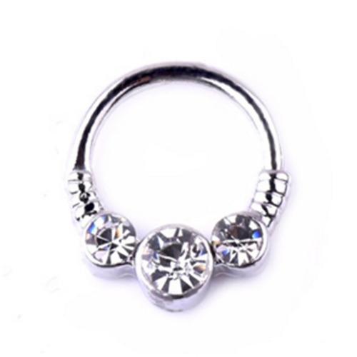 imitação de diamante popular médico nose anel senhoras femin