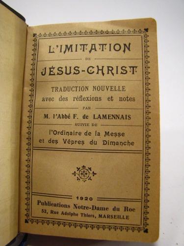 imitation de jesus christ. lamennais 1920