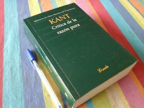 immanuel kant. critica de la razon pura. ed losada