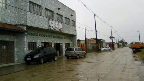 imóvel com salão comercial no bairro bopiranga, em itanhaém