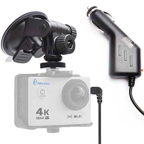 Imoway Suction Cup Dash Cam Car Mount For All Gopro Cameras