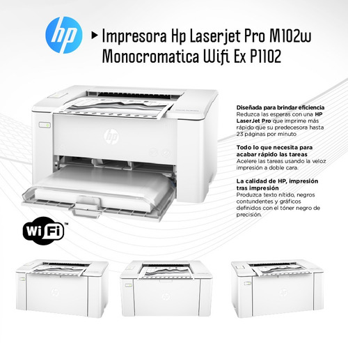 imp hp laser monocromatica pro m102w