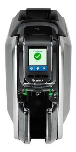 imp. tarjetas pvc zebra zc300 , 2 caras credenciales + cinta