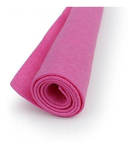 impactante lana rosa fieltro hoja de gran tamaño 20% mezcla