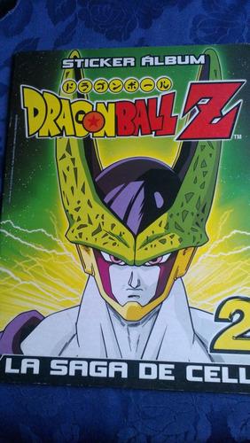 impecable album de dragon ball z la zaga de cell 2 completo