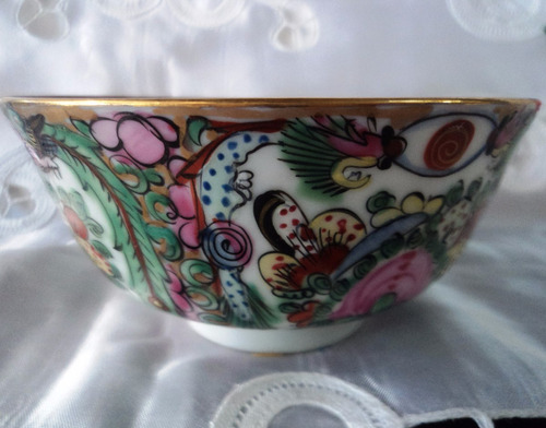 impecable bowl  cuenco porcelana oriental sello rojo  (8p)