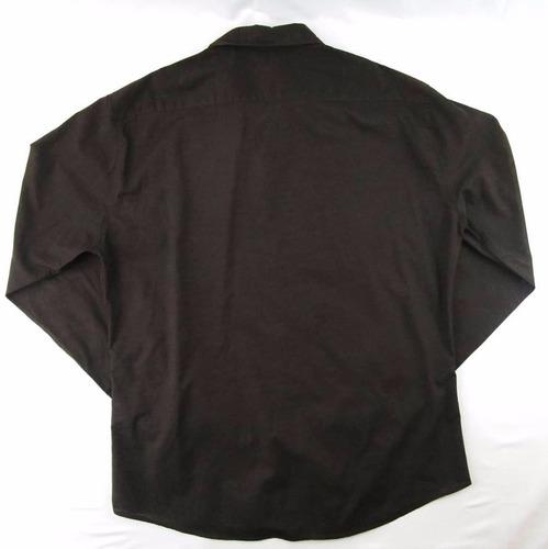 impecable camisa café para caballero h&m talla l
