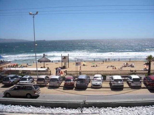 impecable dpto totalmente amoblado frente a la playa reñaca sector 4