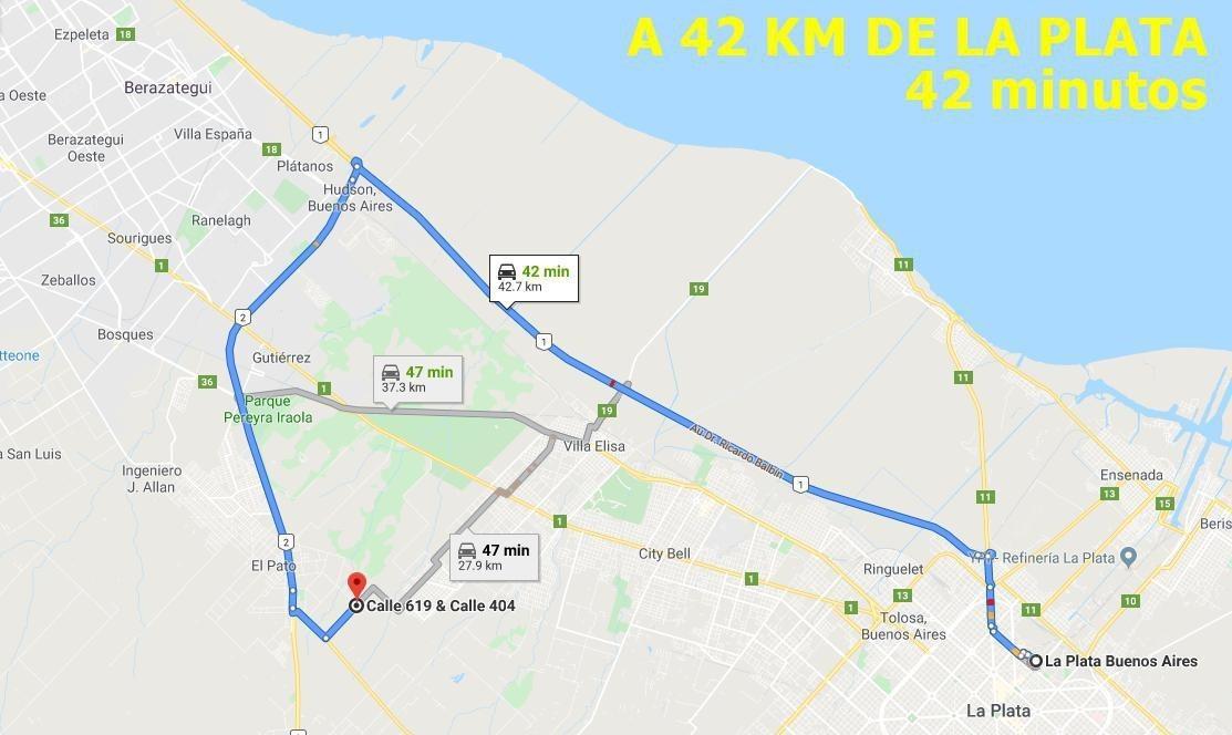 impecable lote de 690 mt2 -   muy fácil acceso desde ruta 2 y ruta 36