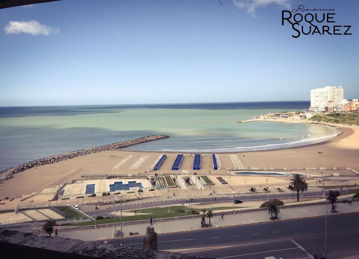 impecable monoambiente con vista al mar. cochera consultar