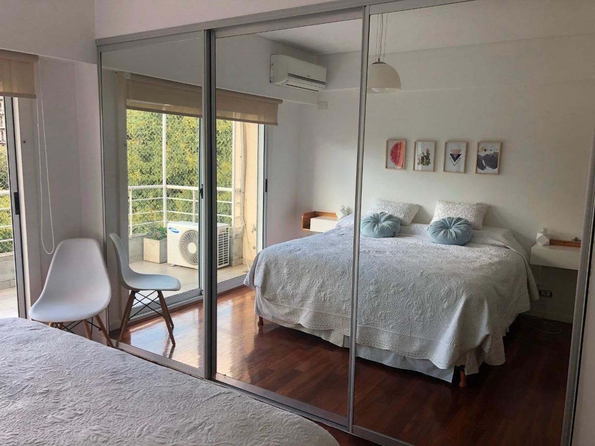 impecable piso de 4 ambientes amoblado en nuñez