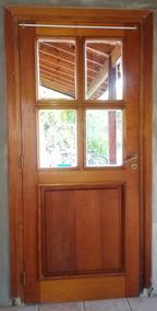 Postigo De Madera Vidrio Repartido Interior Aberturas Puertas Es