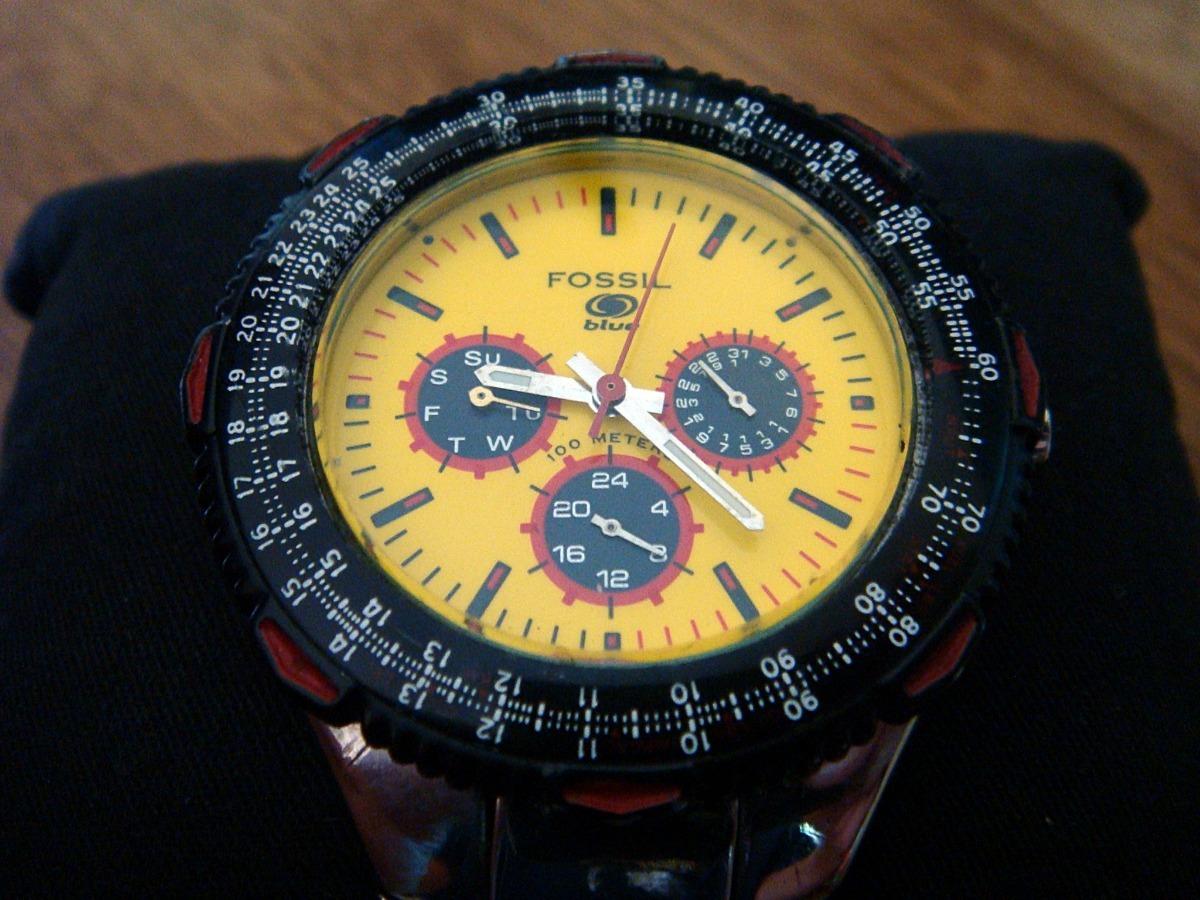 5fa134eb7c01 Impecable Reloj Fossil Blue. Bq-9099. Acero Inoxidable. -   1