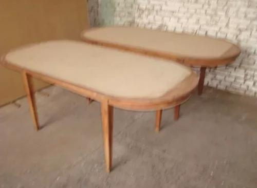 impecables mesas oval de 2.20 x 1.00 x 0.80 ver descripción