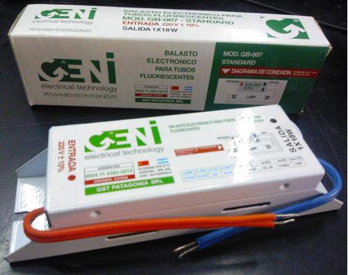 impedancia electronica para tubo fluorescentes 1 x 18w