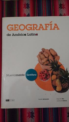 ¡imperdible! - conjunto 4 manuales de geografía santillana