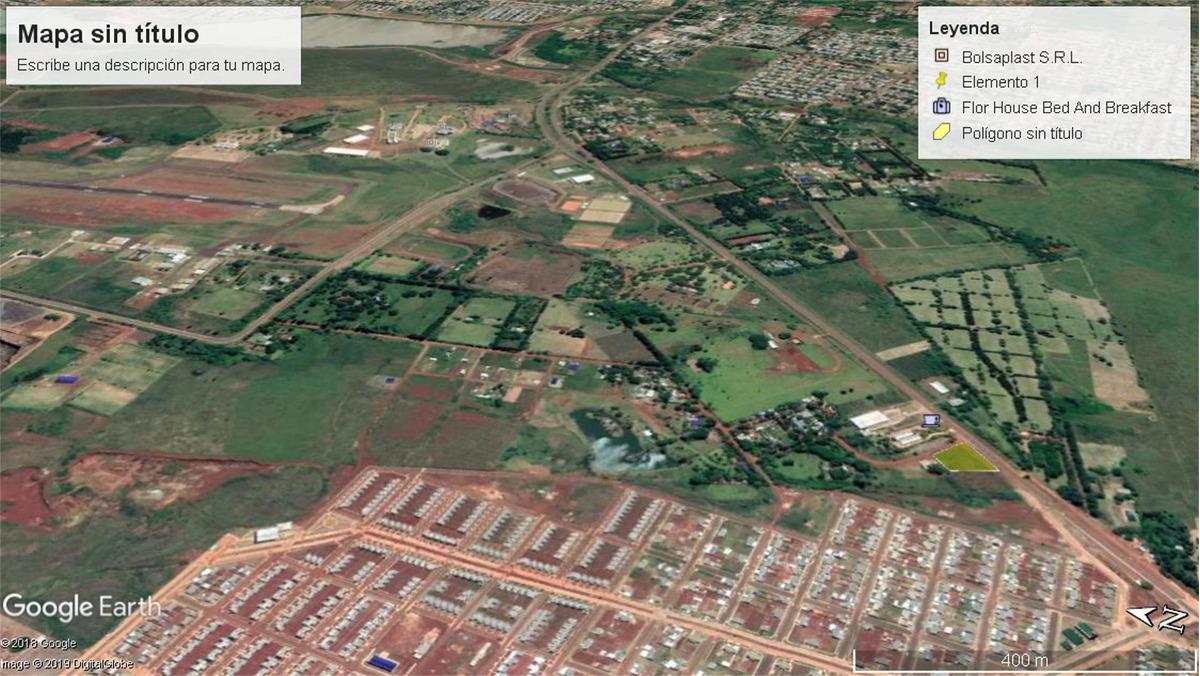 imperdible lote  1900 m2  s / r12 acceso itaembe guazu