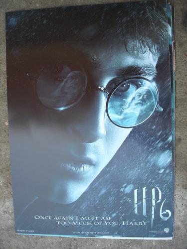 imperdible poster original de la pelicula harry potter 6