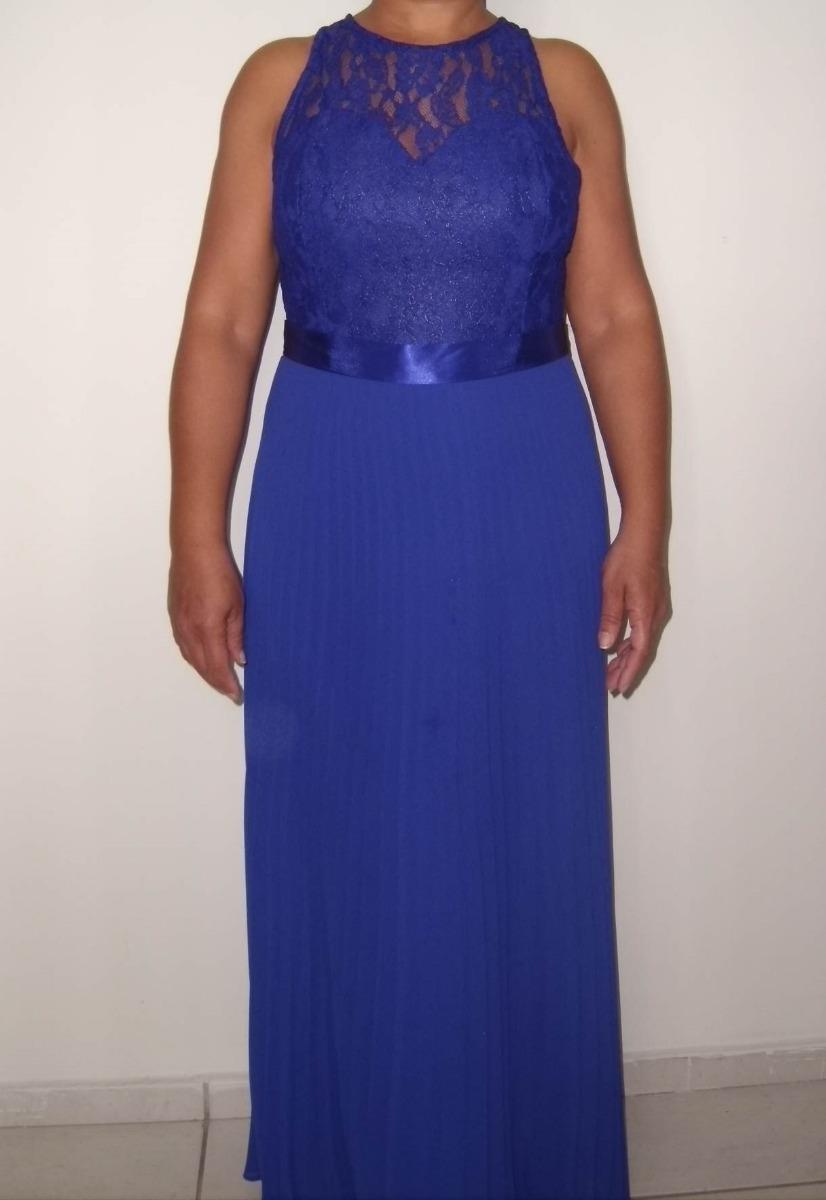 Vestido de festa azul royal barato