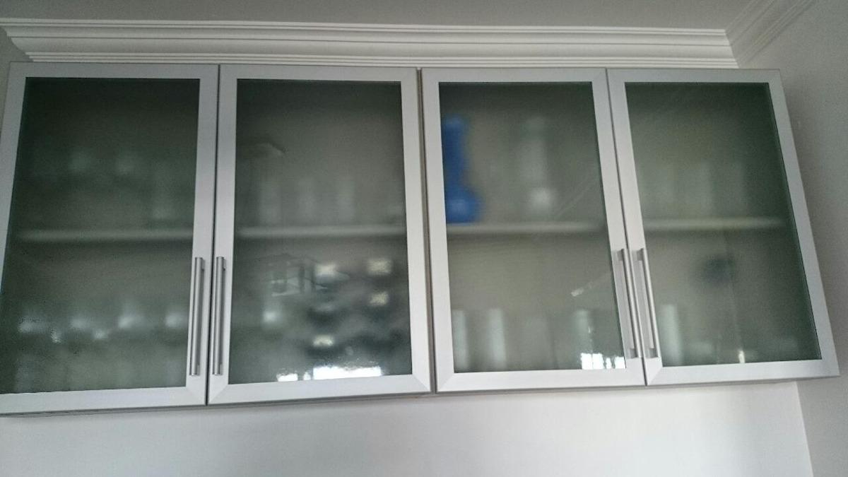Impérdivel!armário De Vidro Jateado (cozinha)  R$ 150,00 em Mercado Livre -> Armario De Banheiro Com Vidro Jateado