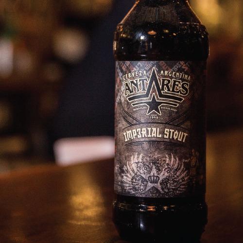 imperial stout caja x 12 cerveza artesanal antares bot 500m