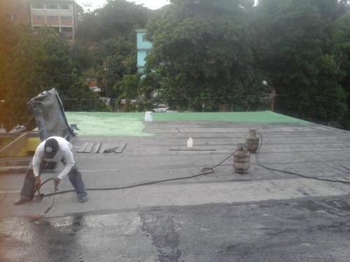 impermeabilización con mantos asfálticos ( mayor a 50 mts².)