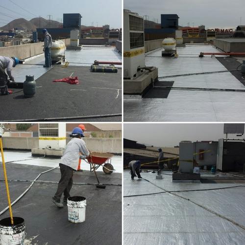 impermeabilización de techo con manta asfáltica