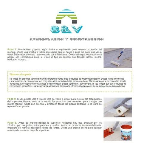 impermeabilizacion de techos de loza y terrazas