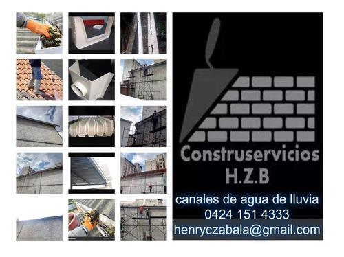 impermeabilización. instalación techos varios,canales agua