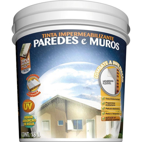 impermeabilizante acrílico hydronorth, branco, 18 litros