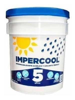 impermeabilizante impercool 5 años fibratado 19 lts