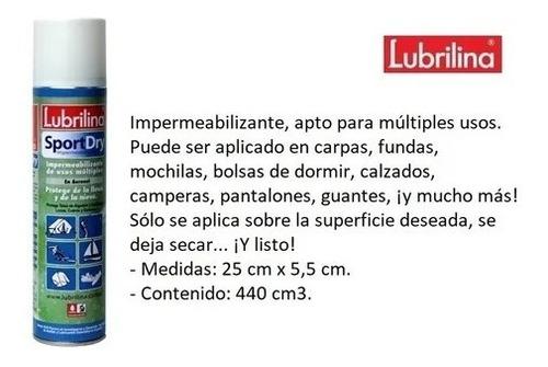 impermeabilizante para telas en aerosol lubrilina 310grs