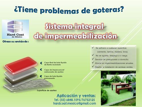 impermeabilizante (sistema integral de 4 capas)