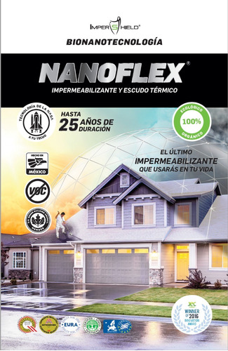 impermeabilizante térmico nanoflex, 25 años de garatía.