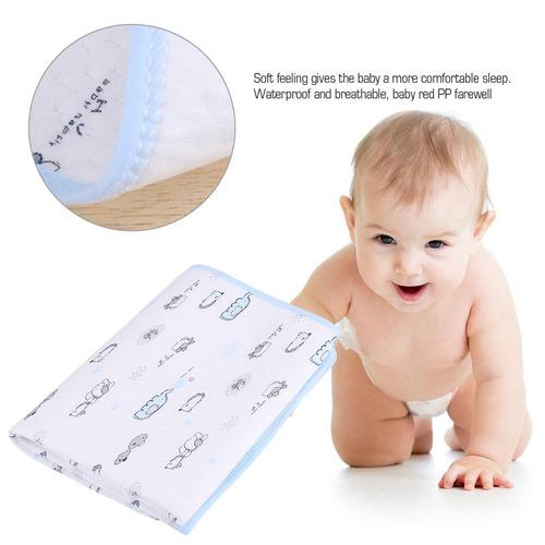 impermeable bebé algodón orina estera pañal pañal ropa d